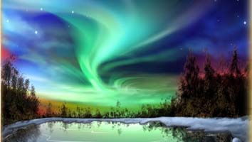The Aurora Borealis looks like something you would see in a planetarium skyshow, but it is very real. The surreal night colors may make you feel like you are in a deep dream.