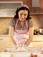 Kneading dough is very relaxing on the hands, feeling the smooth, pillowy flowery mass….